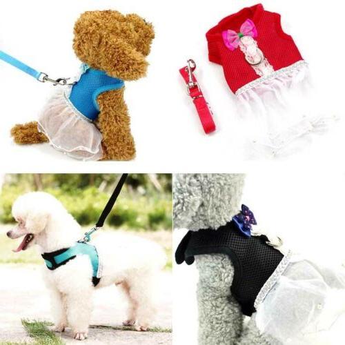 S/M/L Puppy Vest Clothes Cat Dog Tutu Dress Adj