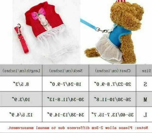 S/M/L Puppy Control Vest Walk Clothes Cat Dress Adj