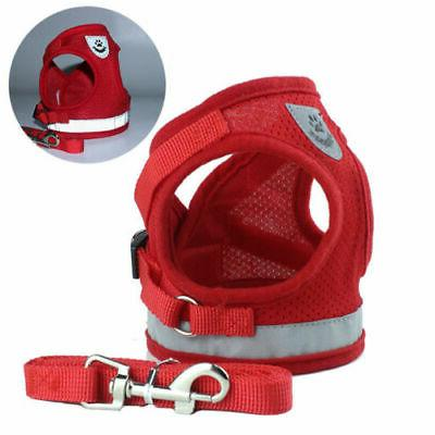 Pet Small Breed Dog Harness S M L Reflective Strip Easy On