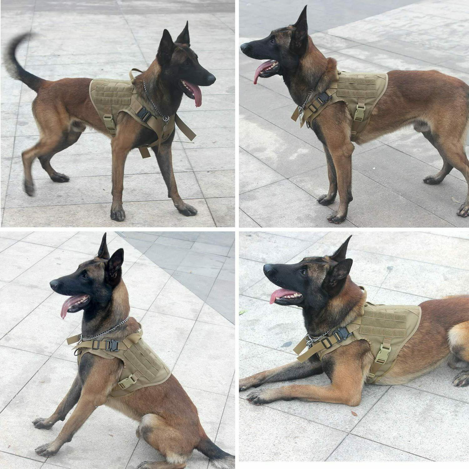 Tactical Dog Harness Handle No-pull Large Dog Dog
