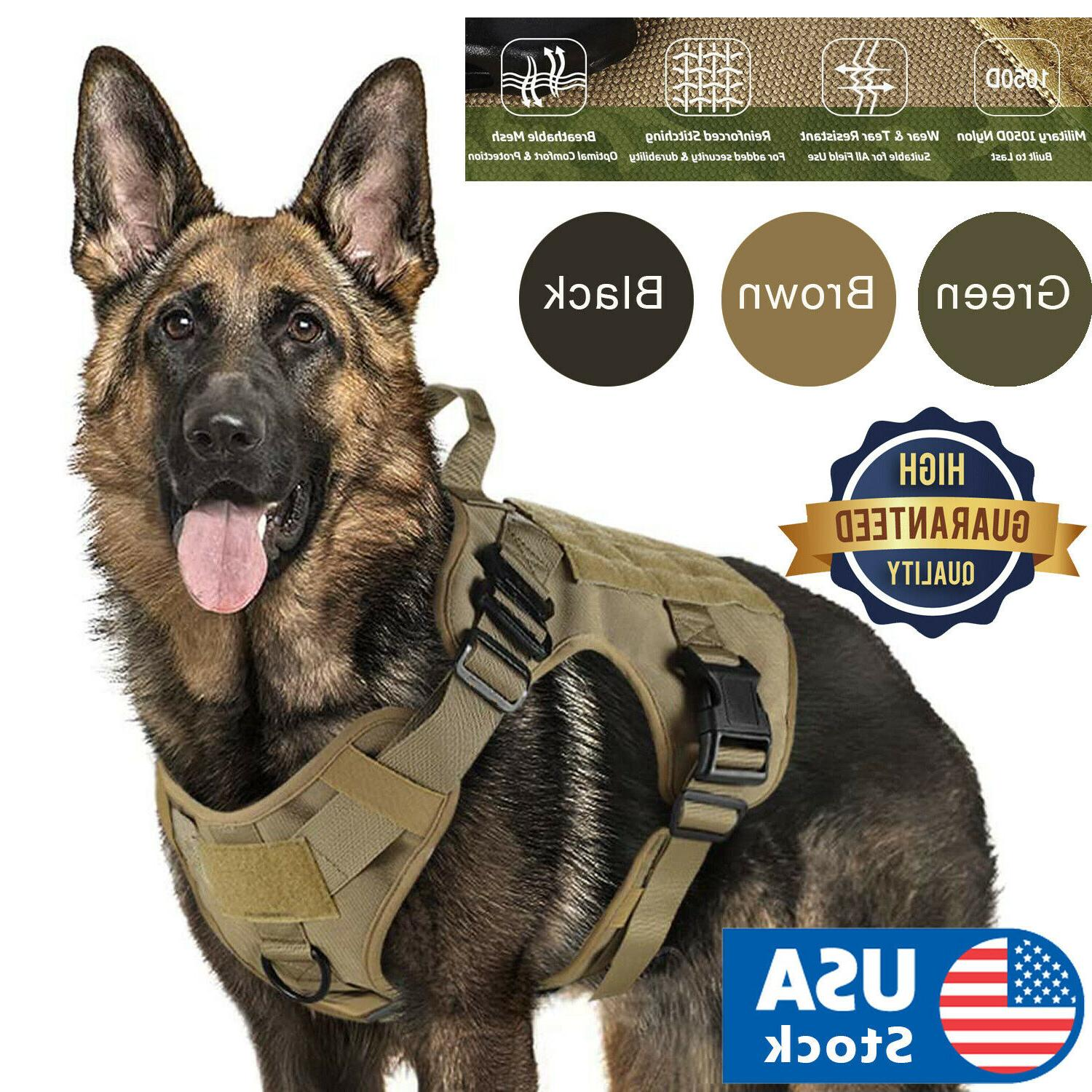 tactical dog harness with handle no pull