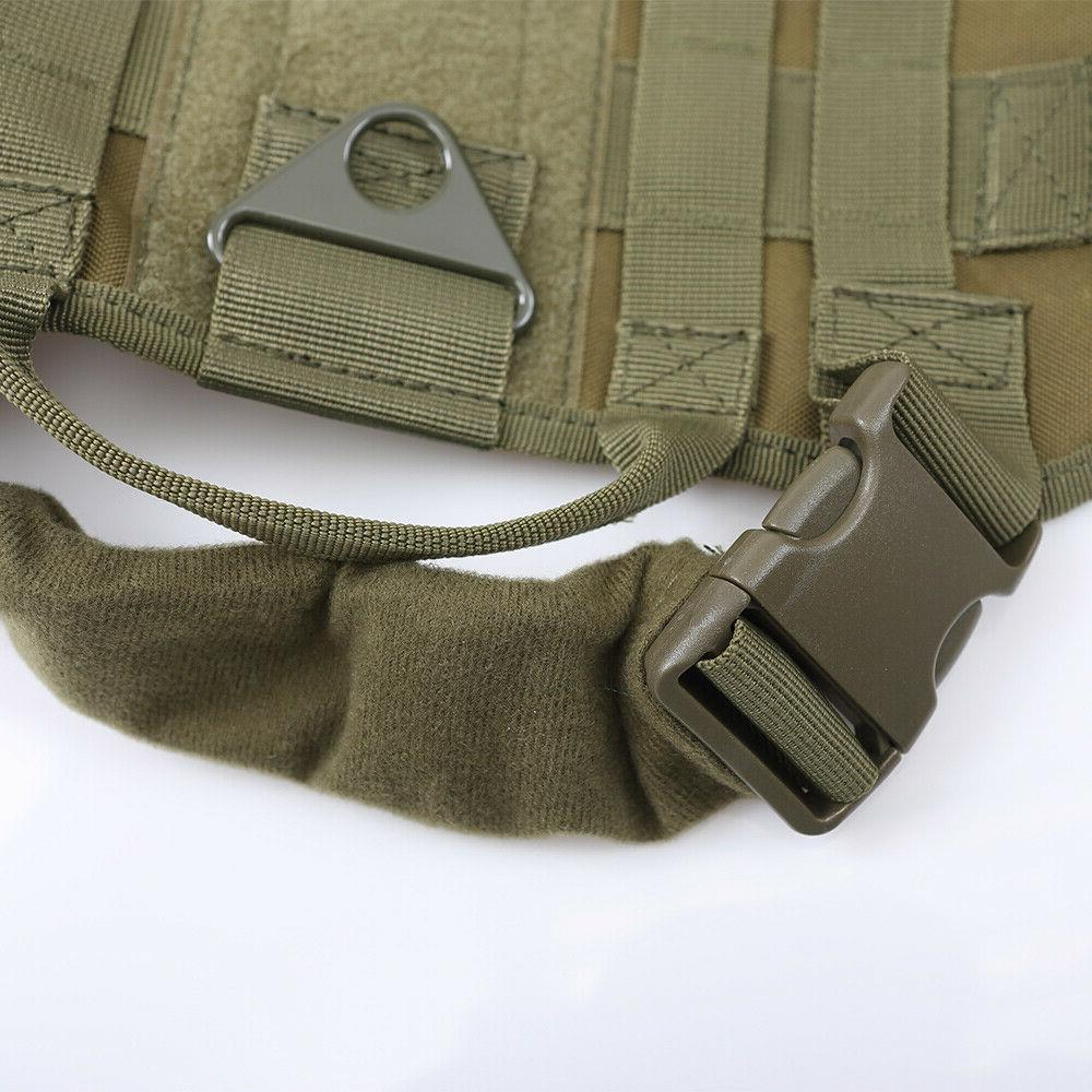 Tactical Police K9 Dog Canine Nylon Service MOLLE