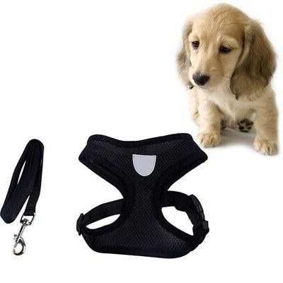 US Breathable Dog Harness Leads Pet Puppy Leash 3