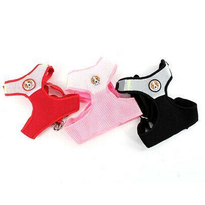 Pets Color Mesh Harness Soft Vest Leash Strap US