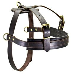 Large Leather Dog Harnesses Training Working Harness No Pull