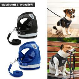Leash + Pet Small Dog Puppy Harness Set Breathable Mesh Vest