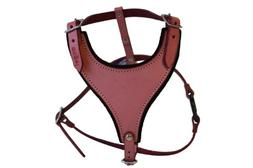 Leather Dog Harness, Felt Padded, Small, Pink, Argentinean L