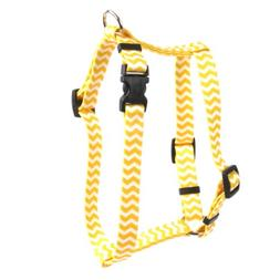 Yellow Dog Design Lemon Chevron 14-Feet to 20-Feet Harness,