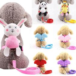 Lovely Dog Collar Leash Wing Pet Escape Proof Cat Harness Pu