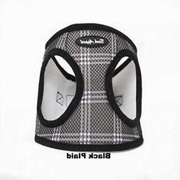 Bark Appeal Mesh EZ Wrap Harness Black Plaid Medium