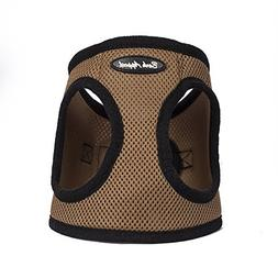 Bark Appeal Mesh Step in Harness X-Small, Caramel Brown