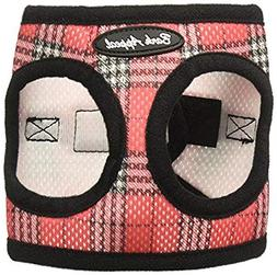 Bark Appeal Mesh Step in Harness, X-Small, Red Plaid