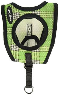 Bark Appeal Mesh Step in Harness, Small, Green Plaid