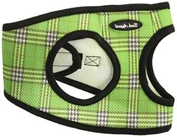 Bark Appeal Mesh Step in Harness, Large, Green Plaid