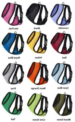 Mesh Soft Padded Dog Puppy Pet Harness 11 Colors 5 Sizes Com