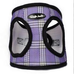Bark Appeal Mesh Wrap N Go Harness Lavender Plaid, Small