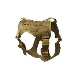 Military Tactical Training K9 Dog Harness Nylon Vest pet Pol