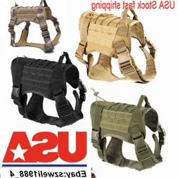 Military Tactical Training K9 Dog Harness Nylon Vest F pet P