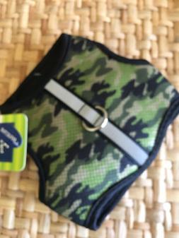 New! Top Paw Camo Dog Puppy Vest Harness XS ARMY Green- Boy