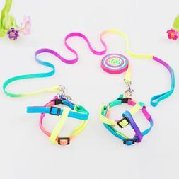 new Puppy Pet Dog Leash Rainbow <font><b>Harnesses</b></font