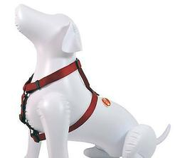 """NEW Quality Dog 1""""W Nylon Harness Red Large 30""""-40"""""""