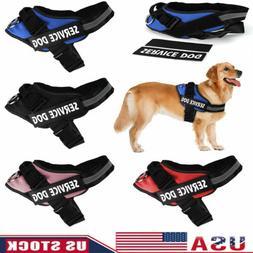 New S-2XL Dog Pet Vest Soft Padded Harness Heavy Duty No Pul