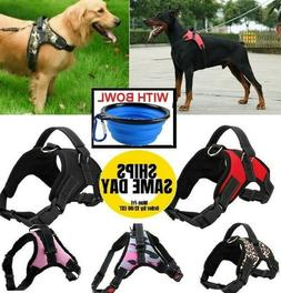 No Pull Adjustable Dog Pet Vest Harness PLUS COLLAPSIBLE BOW