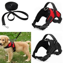 Dog Vest Harness Leash Collar Set No Pull Adjustable for Sma