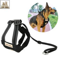 Adjustable Dog Vest Harness &Leash Hook Collar Pet Outdoor A