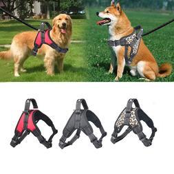 No Pull Harness Dog Pet Adjustable Vest Dogs Reflective Blac