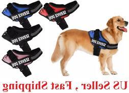 No Pull Service  Dog Pet Harness Adjustable Control Vest Dog