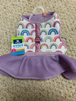 NWT DOG PUPPY VEST HARNESS MEDIUM TOP PAW - Skirt Rainbow