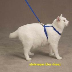 Savvy Tabby Nylon Cat Harness, 3/8-Inch, Nautical Blue