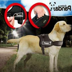 PANDA Nylon Large Dog Harness Collar Vest For German Shepher