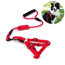 Nylon Puppy Dog Harnesses and Leashes Sets Pet Training Walk