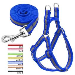 Nylon Reflective Dog Harness and Leash Set for Dogs Walking