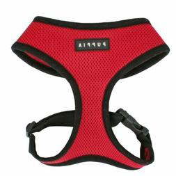 Puppia Original Soft Mesh Harness for Dogs - Red ~ Authentic