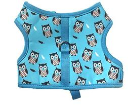 Lanyar Owl Print Dog Harness Bowtie Harness No Pull Pet Harn
