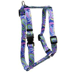 Yellow Dog Design Paisley Power Roman Style H Dog Harness, L