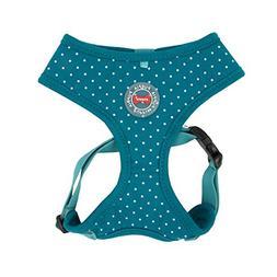 Puppia PARA-HA1529-TE-M Teal Dotty Harness II A Pet-Vest-Har