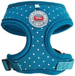 Puppia PARA-HA1529-TE-XS Teal Dotty Harness II A Pet-Vest-Ha