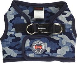 Puppia PARA-HB1523-NC-M Navy Camo Bobby Harness B Pet-Vest-H