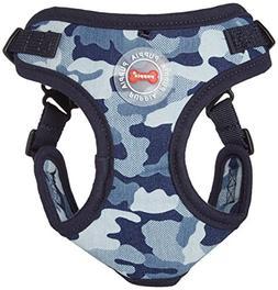 Puppia PARA-HC1523-NC-M Navy Camo Bobby Harness C Pet-Vest-H