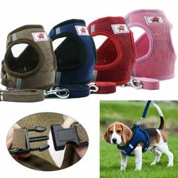 Breathable  Small Dog Cat Pet Mesh harness Vest Collar Chest