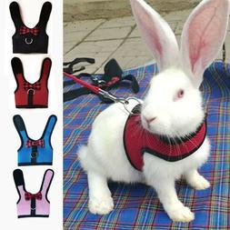 Pet Cute Mesh Harness Leash Small Animal Lead for Rabbit Bun