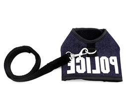 SMALLLEE_Lucky_Store Pet Clothes for Small Dog Cat Police Ve