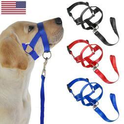 Pet Dog Head Collar Halter Nylon Leash Leader Safety Walking