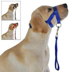 Pet Dog Mouth Cover Muzzle Collar Stop Bite Pull Halter Trai