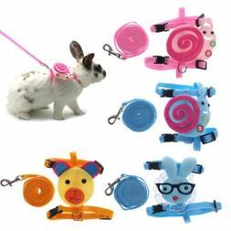 Pet Harness Leash Set Adjustable Guinea Pig Hamster Rabbit T