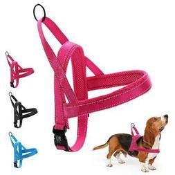 Pet Harnesses Vest Nylon Dog Soft Padded For Walking Small M